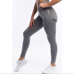 ECHT arise key leggings charcoal grey high rise seamless size small